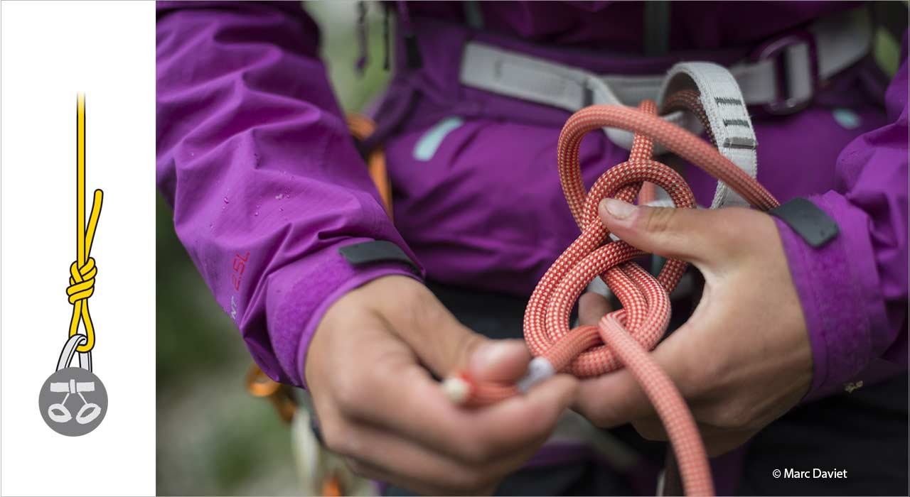 The main knots used in rock climbing and mountaineering