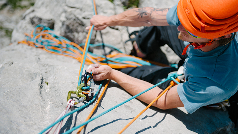 How to belay from above