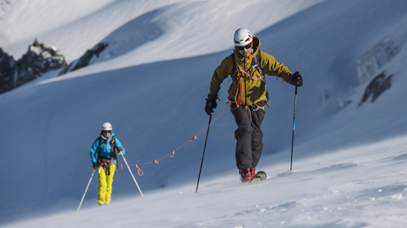 Why wear a helmet when ski touring?