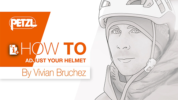 Video screenshot:How to put on your climbing and mountaineering helmet- By Vivian Bruchez