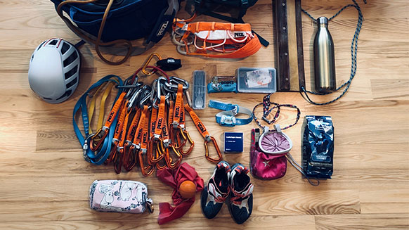 What's in Margo Hayes' pack?