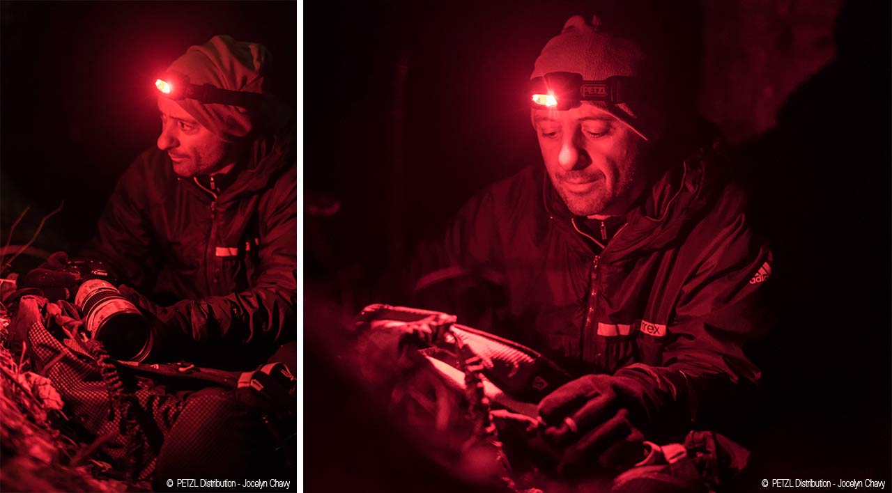 ©  PETZL Distribution - Jocelyn Chavy Red light