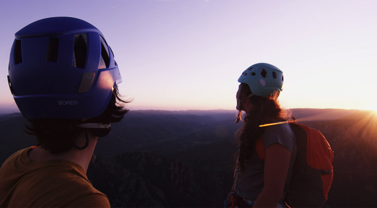 Capture d'écran de la vidéo :Une virée en van pour de nouvelles aventures verticales