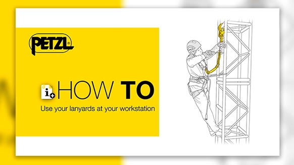 Video screenshot:How to properly use energy-absorbing lanyards at your workstation