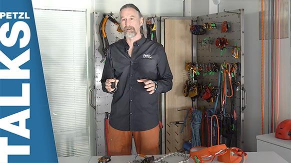 Video screenshot:Petzl Talks: building awareness about aging PPE