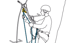 Belaying with a rope as a complement to energy-absorbing lanyards