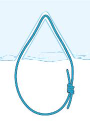 Schließen der Schlinge mit einem doppelten Spierenstich oder Sackstich
