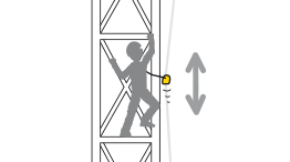 Primary belay device in a fall arrest system