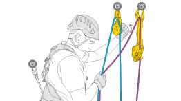Aseguramiento de una persona con el ASAP en el anclaje