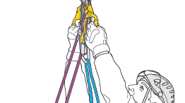 Access on doubled rope with the ZIGZAG