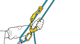 Adjusting the ZIGZAG's position in rope loop technique