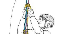 Securing the ASCENTREE with the ZIGZAG - Variant with installation of a rope for aid and rescue
