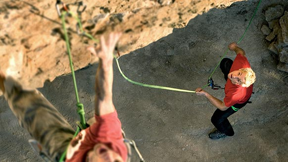 How to belay the leader with a GRIGRI - Belaying techniques