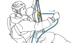 Ascending the rope in self-rescue: take care when approaching the anchor