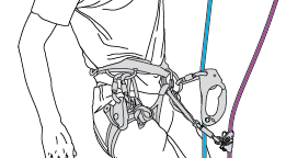 Setting up a self-belay system on two ropes with two ascenders