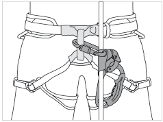 Attaching the ASCENSION and BASIC for self-belaying