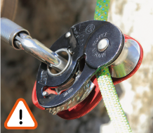 Use of the MINI TRAXION pulley danger