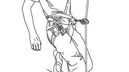 Anhang 5: Untersuchung von in der Praxis üblichen Lösungen - Verwendung von nur einer Seilklemme und Knoten im Seil
