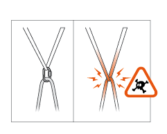 Rope friction warning