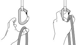 Positionnement de la dégaine et clippage de la corde