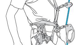 Annexe 3 : Détail de l'installation sur une seule corde portant deux bloqueurs