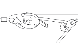 Hilfsseilbahn mit dem RIG