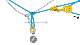 Evacuation by rope-to-rope transfer