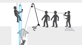 Upward and horizontal evacuation in a confined space