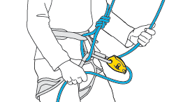 Belaying and descending on multi-pitch climbs on a single rope