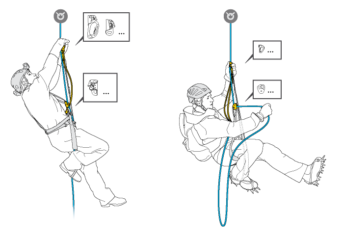Differences between a chest ascender and an ascender on a lanyard