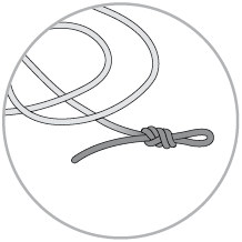knot tied in the end of the rope
