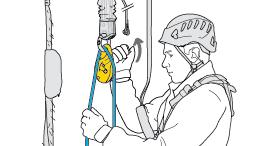 Abschnitt Befreien und Evakuieren einer in einem statischen System hängenden Person
