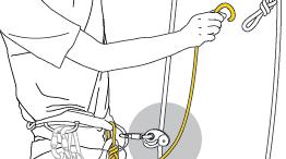 Annexe 6 : Analyse de solutions observées sur le terrain. Utilisation d'un seul bloqueur et de nœuds à clipper sur une deuxième corde