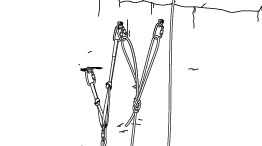 Principes généraux pour l'escalade en solo le long d'une corde fixe d'assurage