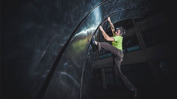 Urban climbing at night