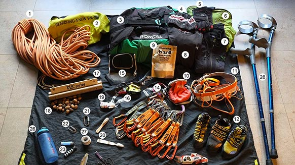 What's in Urko Carmona's pack?
