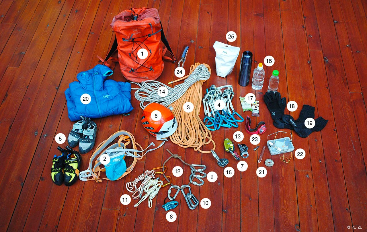 Klettergurt Für Mehrseillängen : Petzl nachrichten was hat nina caprez in ihrem rucksack?