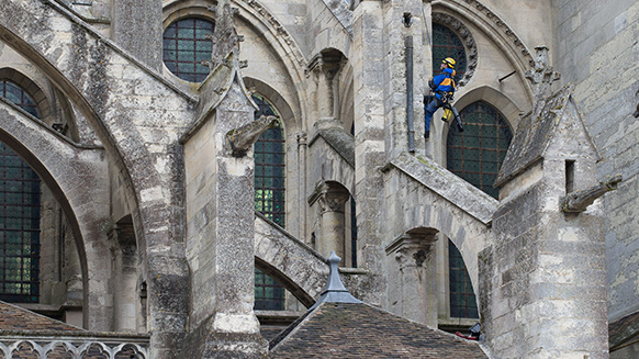 Labor of love: roofing and rope access work on Meaux Cathedral