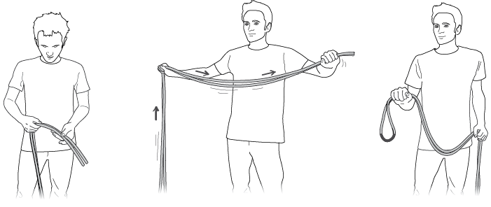 Regularly inspect the middle mark of the rope.