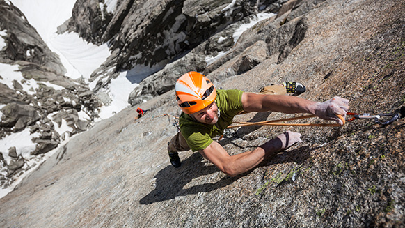 "Cédric Lachat and Fabien Dugit embark on a ""crazy"" free climb."