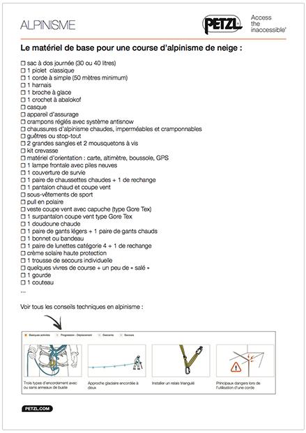 Assez News - Petzl Le matériel de base pour une course d'alpinisme de  NJ26