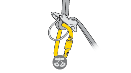 Choice of carabiner for attaching a VERSO or REVERSO to the harness