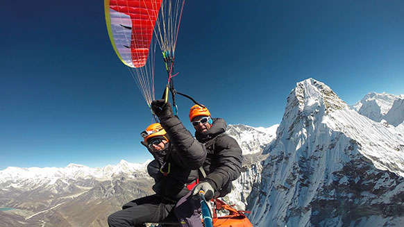 Para-alpinism on Ama Dablam with Bertrand Zeb Roche and Jean-Michel Bacou