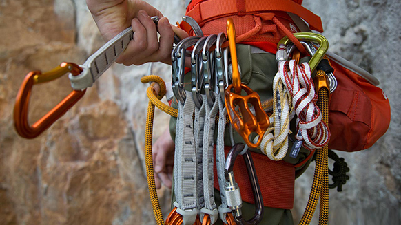 Essential gear for multi-pitch climbing