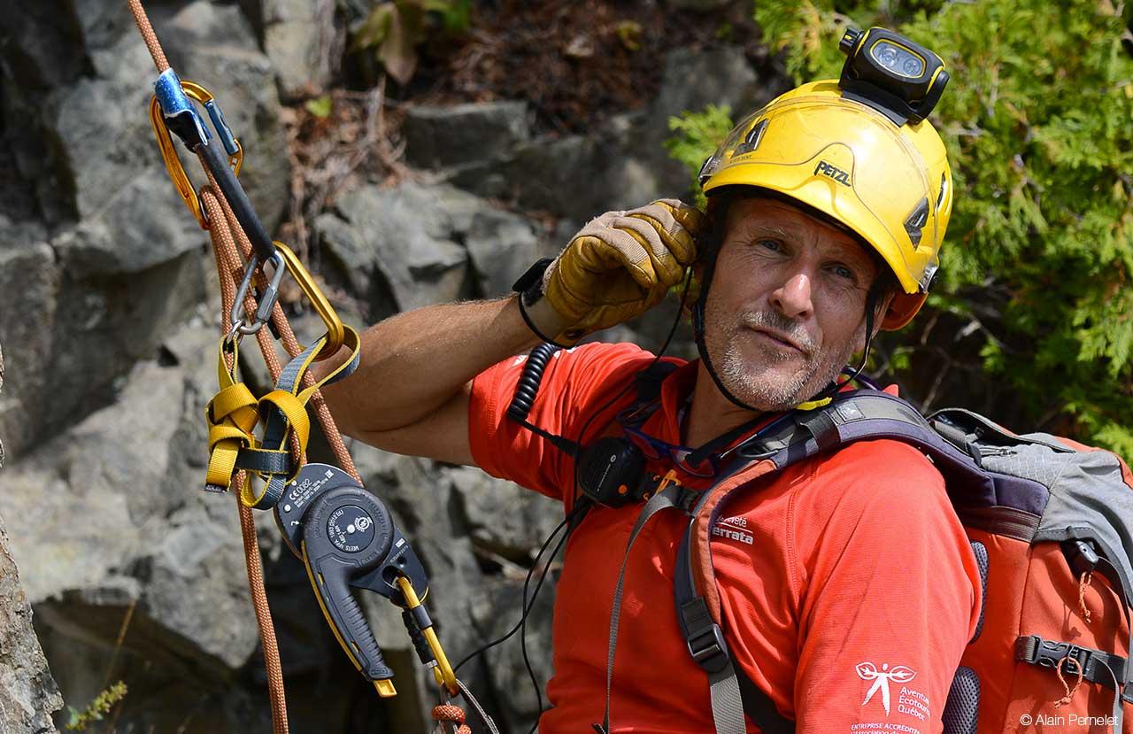 Klettersteig Quebec : Petzl nachrichten klettersteige in québec herausforderung an die
