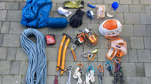 What gear should you pack for lightweight summer mountaineering?
