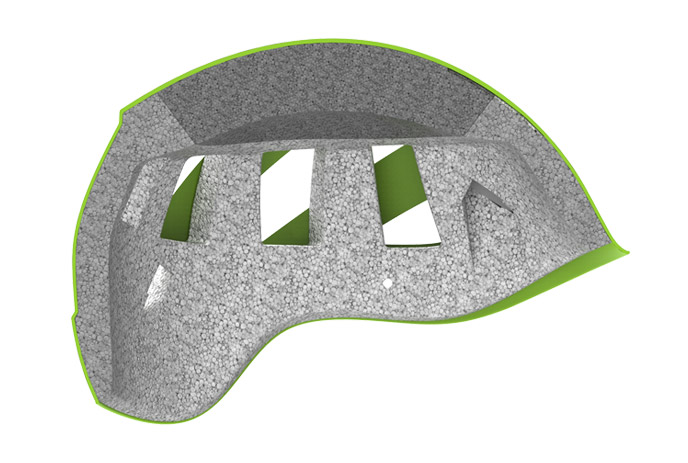 Helmet, hybrid construction 2