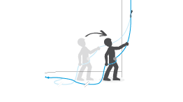 Good practices for belaying a lead climber