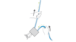 Universal technique for correct use of a belay device.