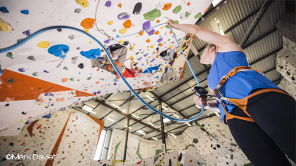 Best practices for belaying a lead climber